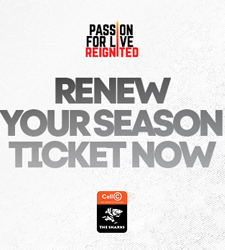 Renew your Sharks season ticket